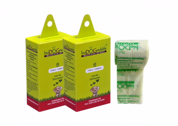 bioDOGradable Waste Pick Up Bags (45 Bag Box)-10835