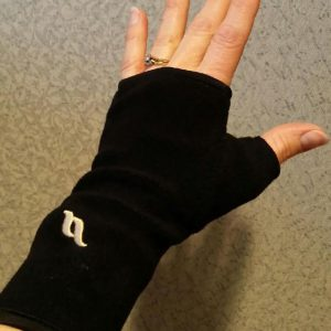 Back on Track Fleece Wrist Cover with Thumb - Black-0