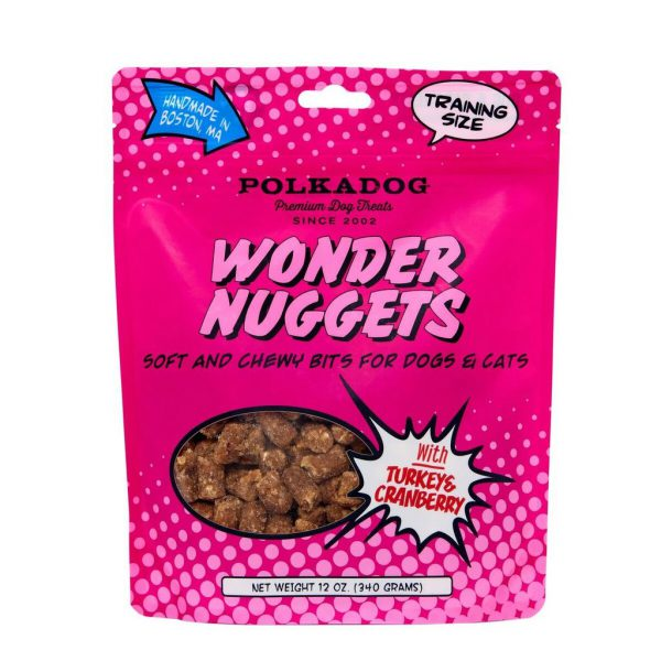 PolkaDog Wonder Nuggets Turkey & Cranberry 12oz bag-0